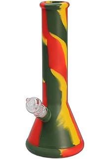 rot 18 cm Glas gro/ße Wasserkammer bong-discount Wasserpfeife Glasbong Glasblubber