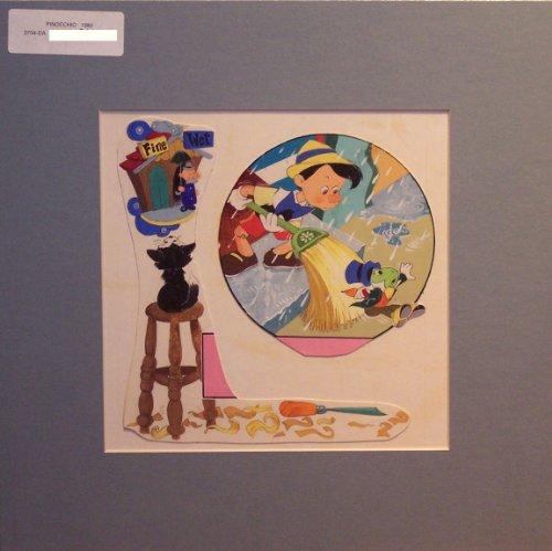 Pinocchio and Jiminy Cricket - Disney Storybook Illustration from Disney