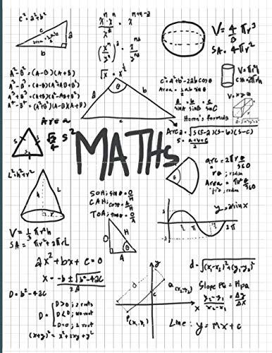 Math: Graph Paper Notebook: 1/4 Inch (0.25