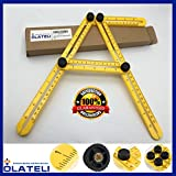 Olateli Angleizer Template Tool - Copper Screw Multi-Angle Measuring Ruler Template Tool for Any Material, Premium Design, Compact & Durable, Ultimate Template Tool for Your DIY & Expert Works