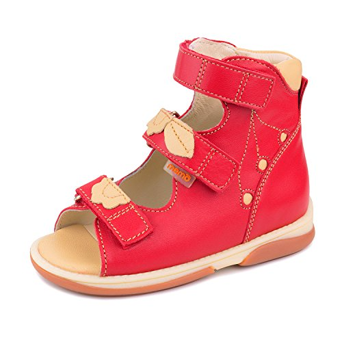 Memo Bellona 3HA Girl's High-Top Ankle Support Orthopedic Leather Sandal, 22 (6T) by Memo