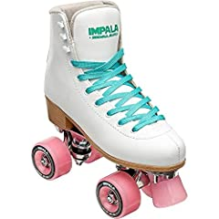 Impala Sidewalk Roller Skates White - Size 10Skates have PVC upper, heel and sole, metal speed lace eyelets, aluminum alloy trucks and baseplate, 58nn 82s durometer high-quality wheels, ABEC 7 bearings, and PU brake stopper.• Size: 10 - IMPAL...