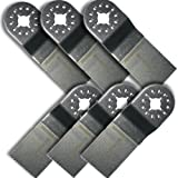 """KENT Set of 6 x 1-1/4"""" Fast Cut Blades, For Precision Cutting of Soft: Wood, Metal, Plastics, Fits Fein Multimaster, FMM250Q, Bosch, Chicago, Secco, Milwaukee"""