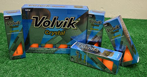 2 Dozen Volvik Crystal Orange Golf Balls - New in Box by Volvik