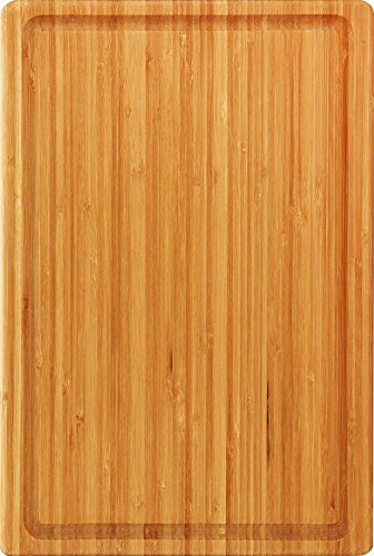 Extra Large Bamboo Cutting Board (18 by 12 inch) - Utopia Kitchen