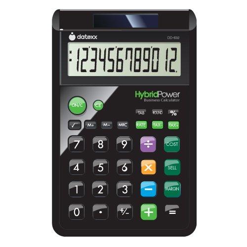 Datexx DD-632B 12 Digit Hybrid Designer Desktop Calculator (Calculator For Seniors)