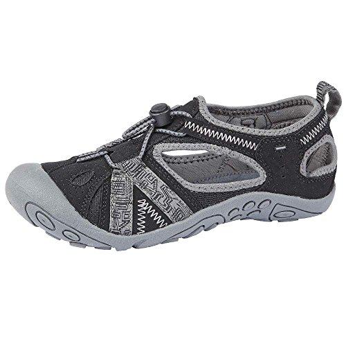 Northwest Territory, sandali da trekking Carolina per donne, ragazze e bambine, Nero (Black / grey), 40 EU