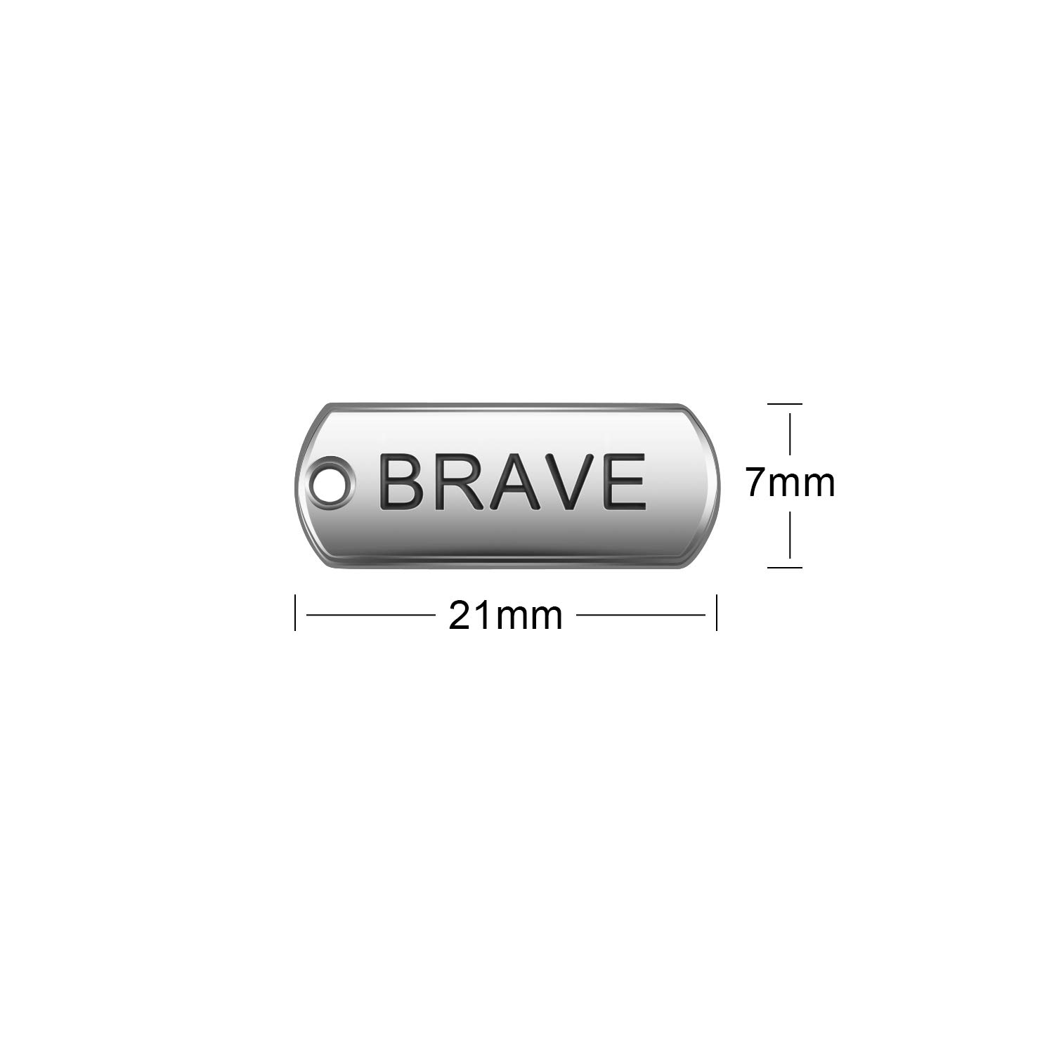 Fashion Accessories and Craft Supplies AIEX 120 Pieces Inspirational Word Charms Pendants Rectangular Pendants for Jewelry Making Sliver Tone DIY Bracelets Necklaces