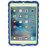 Apple iPad mini 4 - Hideaway with Stand - Royal Blue - Lime - Silicone - Rugged Shock Absorbing Protective Dual Layer Cover Case