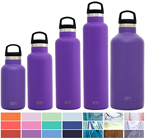 Containers Stainless Drink Steel (Simple Modern 12oz Ascent Water Bottle - Stainless Steel Hydro Kids Flask w/Handle Lid - Double Wall Vacuum Insulated Purple Reusable Tumbler Small Metal Coffee Leakproof Thermos - Lilac)
