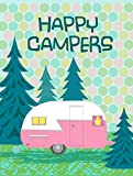 Caroline's Treasures VHA3004GF Happy Campers Glamping Trailer Garden Flag, Small, Multicolor