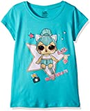 L.O.L. Surprise! Little Girls' The Glitterati Kitty Queen Short Sleeve T-Shirt, Tahiti Blue, M-5/6