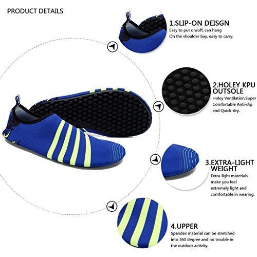 Vivay Herren Damen Barfuß Wasser Schuhe Quick-Dry Outdoor Aqua Socken für Beach Swim Surf Yoga Übung B. Königsblau