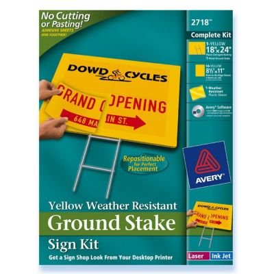 Avery Weather Resistant Ground Stake Sign Kit (2718)
