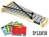 D\'Luca 13 Notes Children Xylophone Glockenspiels with Music Cards