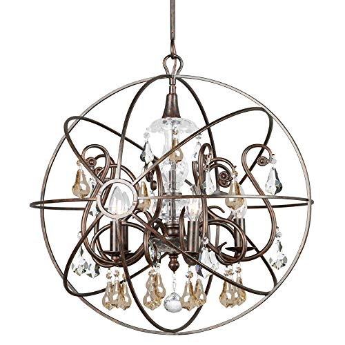 - Crystorama Solaris Collection 5-Light English Bronze Chandelier