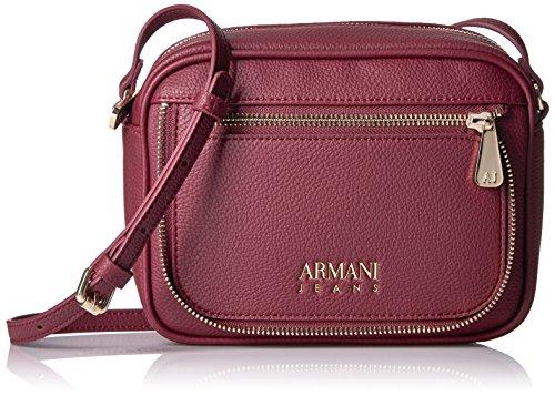 Armani Jeans Faux Zipper Sling Bag, Burgundy by ARMANI JEANS