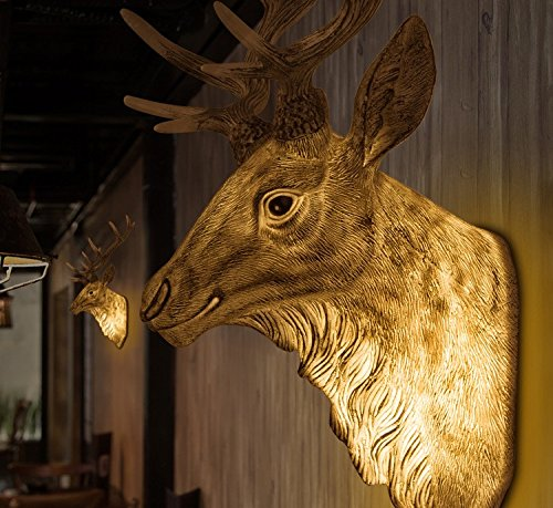 Creative personality deer head Wall lamp living room dining room wall aisle KTV bars North European antler Wall lamp,Nordic RIVI