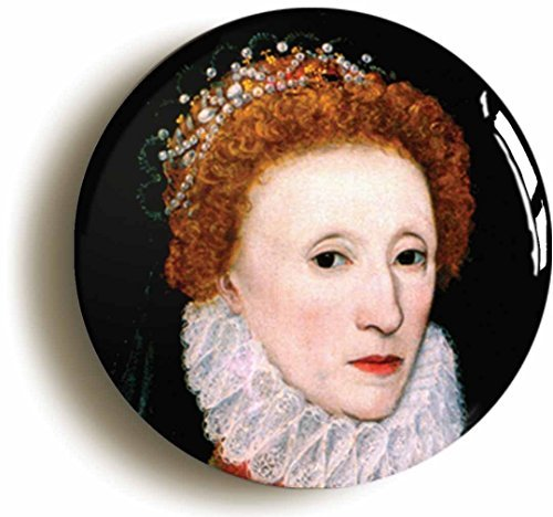 Queen Elizabeth I 1st First Button Pin (Size is 1inch Diameter) England Tudor ()