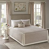 Madison Park Breanna 4 Piece Tailored Bedspread Set Khaki King/Cal King