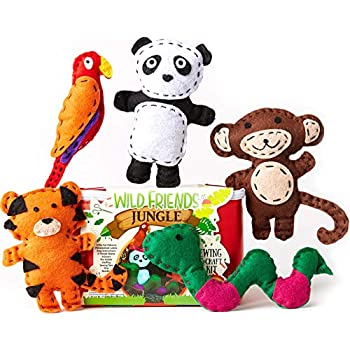 Amazon Com Four Seasons Crafting Kids Sewing Kit And Animal Crafts