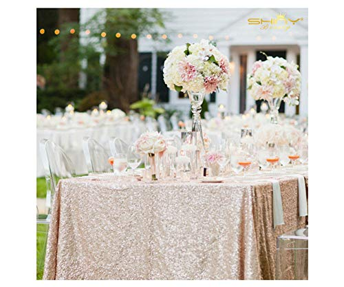 Champagne Sequin Tablecloth,Ready to Ship ¡