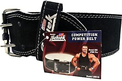 Black Schiek Sports Model 6010 Leather Competition Power Lifting Belt