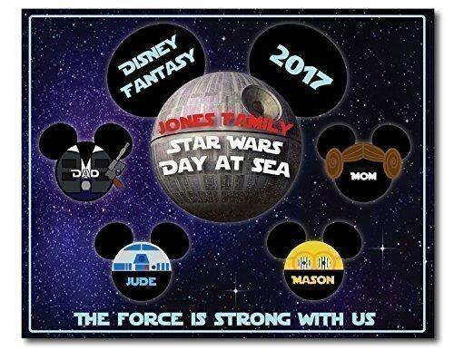 Disney Inspired RECTANGLE 8 x 10 Star Wars Family Magnet for Disney Cruise
