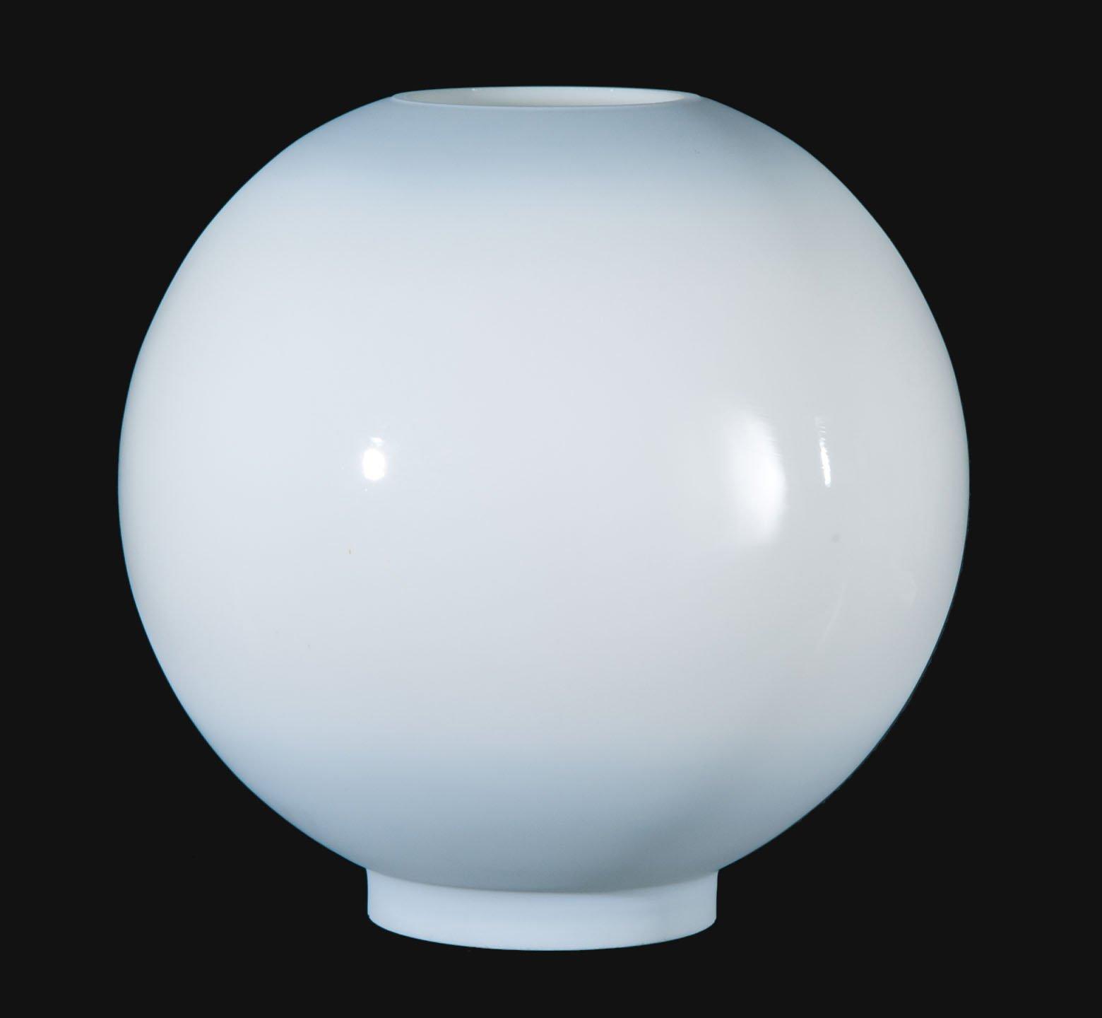 B&P Lamp Porcelain Blue Tint Opal Glass Ball Shade