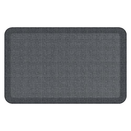 "NewLife by GelPro Anti-Fatigue Designer Comfort Kitchen Floor Mat, 20x32"", Tweed Nickel Grey Stain Resistant Surface with 3/4"" Thick Ergo-foam Core for Health and ()"