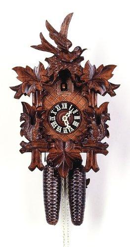 (August Schwer Cuckoo Clock Five Leaves, Squirrel, Swallow)