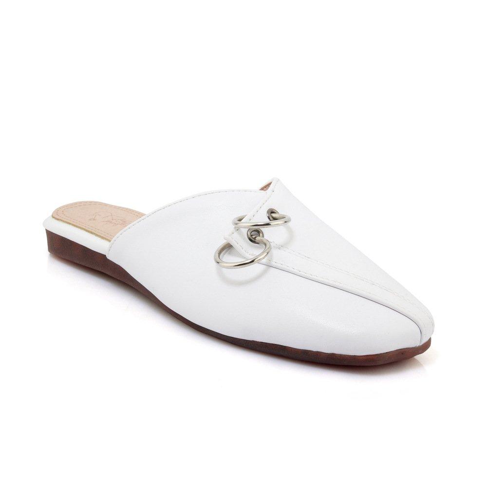 Unbekannt Sandalen Damen Vintage Vintage Vintage Quadratischen Kopf Flach Groß Flip Flop Weiß 39 e24f5e