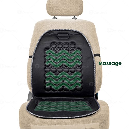 Zone Tech Magnetic Bubble Ultra Comfort Massaging Car Seat Cushion - Classic Black Premium Quality Massaging Padded Car Office Home Seat Cushion for Stress Free all Day!