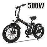 """51p1 Vu8CGL. SS150 XXCY Pieghevole Bici elettrica 500 w e-Bike 20""""* 4.0 Pneumatico Grasso 48v 15ah Batteria Display LCD con 5 Livelli di velocità di PAS"""