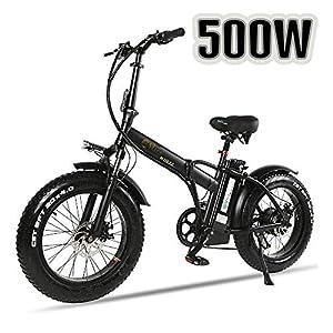 """51p1 Vu8CGL. SS300 XXCY Pieghevole Bici elettrica 500 w e-Bike 20""""* 4.0 Pneumatico Grasso 48v 15ah Batteria Display LCD con 5 Livelli di velocità di PAS"""