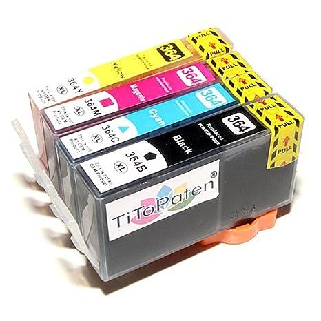 *TiToPaten®* 4 Druckerpatronen kompatibel für HP 364 XL 364XL mit Chip und Füllstand