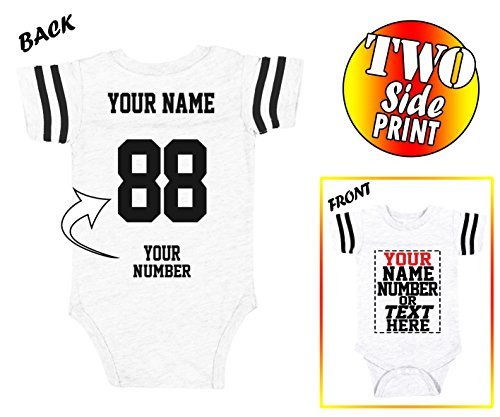 Tee Miracle Custom Jerseys for Babies - Make Your OWN Jersey Onesie - Personalized Baby Onesies & Newborn Outfits