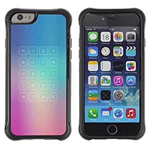 Paccase / Suave TPU GEL Caso Carcasa de Protección Funda para - glass app purple blue fog message - Apple Iphone 6