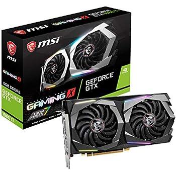 MSI Gaming GeForce GTX 1660 Ti 192-bit HDMI/DP 6GB GDRR6 HDCP Support DirectX 12 Dual Fan VR Ready OC Graphics Card (GTX 1660 TI Gaming X 6G)