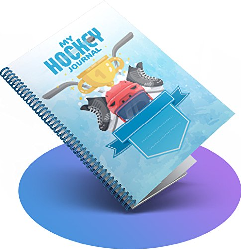 Hockey for Boys Original Interactive Training Journals / Great gift for your child / Helps Parents, Coaches & Teachers to keep kids motivated & inspired / Our Fun Characters will guide you through