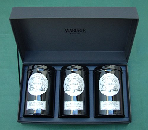 Mariage Frères - FRENCH TEA TIME® - 3 Teas gift set - EACH: 3.52oz / 100gr canister / tin by Unknown
