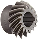 Boston Gear SH142-1P Spiral Bevel Pinion Gear, 2:1 Ratio, 0.500'' Bore, 14 Pitch, 16 Teeth, 35 Degree Spiral Angle, Keyway, Steel with Case-Hardened Teeth