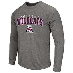 Mens NCAA Arizona Wildcats Long Sleeve Tee Shirt (Heather Charcoal) - M