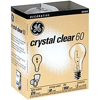 (Ship from USA) 24- NEW GE 97490-24 60-Watt Crystal Clear Incandescent A19 Light Bulbs /ITEM NO#E8FH4F854135615