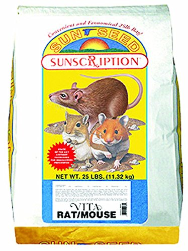 Sun Seed Company Sss94125 Vita Daily Diet Rat/Mouse Food, 25-Pound
