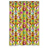 Customize For Bathroom - Pretty Animal Cartoons Colorful Rabbit Chick Shower Curtain - 48''x72'' Inches - Waterproof Polyester Fabric - Shower Rings Included