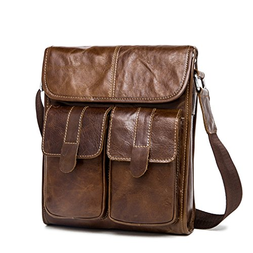 2 Messenger Men's Capacity Vintage Bags 1 Sucastle Leather Shoulder Briefcases Large Design vqwgX