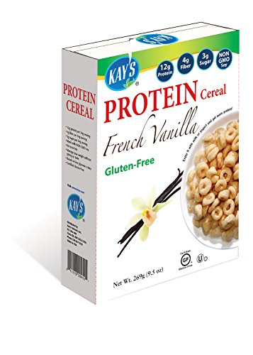 Kay's Naturals Gluten Free French Vanilla Protein Cereal, 9.5-Ounce Boxes (Pack of 6) French Vanilla Cereal