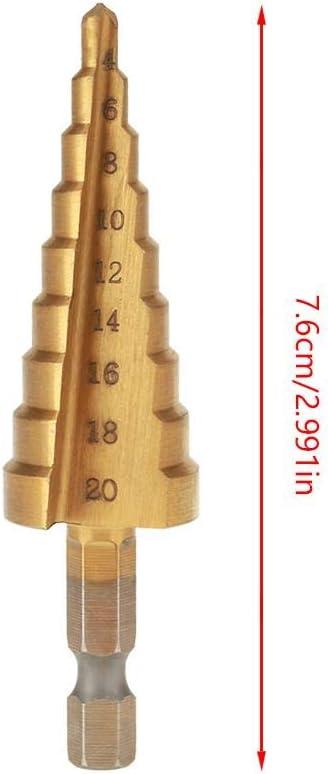 Broca escalonada 1 piezas para broca de galjanoplastia 3-12mm con caja de aluminio para orificios de corte de varios tama/ños alta velocidad resistente al desgaste fabricada en acero HSS