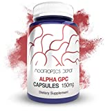 Alpha GPC Capsules   150mg   180 Count   Cholinergic Supplement   Brain Health Supplement   Supports Healthy Brain Function   Enhance Cognition, Memory + Focus